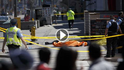 25 شخص بين قتيل وجريح في حادث دهس في تورونتو