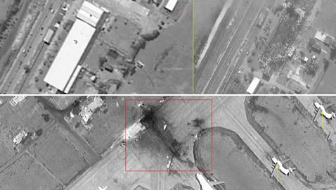 بالصور: حجم الدمار الذي أحدثته الضربات الجوية الإسرائيلية على مدينة اللاذقية